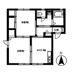 フェアコートC[1階]の間取り