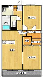 アヴァンツァーレ[2階]の間取り