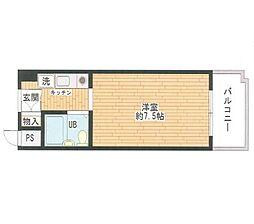 センチュリーパークユニ東梅田[4階]の間取り