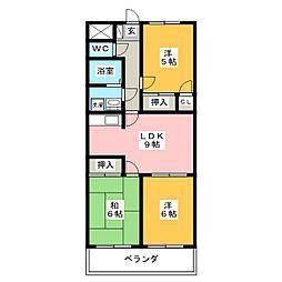 ディアコートツジ[4階]の間取り