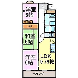 エミネンスM[3階]の間取り