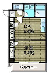 日神デュオステージ町田[6階]の間取り