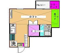 東京都世田谷区給田3丁目の賃貸アパートの間取り