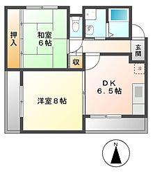 土古マンション[3階]の間取り