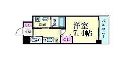 ファーストフィオーレ江坂レガリス 8階1Kの間取り