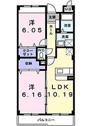 セレーナカーサ[1階]の間取り