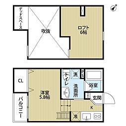 エクルY's堺[2階]の間取り