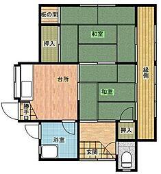 [一戸建] 千葉県船橋市山手2丁目 の賃貸【/】の間取り