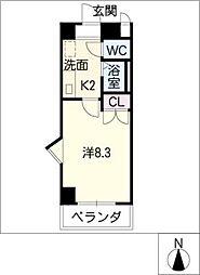 STプラザ八事[6階]の間取り
