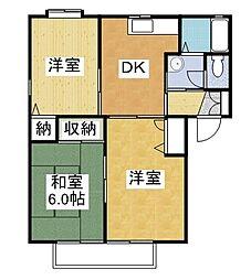 みずき本城 B[1階]の間取り