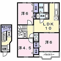 リス・メゾン A棟[2階]の間取り