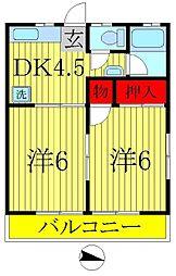 第一タケエハイツ[2階]の間取り