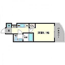 SERENiTE高井田[9階]の間取り