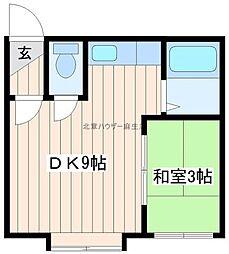 北海道札幌市北区あいの里四条5丁目の賃貸アパートの間取り