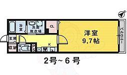 泉北高速鉄道 深井駅 徒歩20分の賃貸マンション 3階1Kの間取り