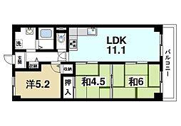 サンマンション新大宮[8階]の間取り