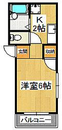 第二荒井マンション[202号室]の間取り