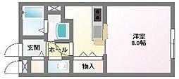 ハイツボナールI[1階]の間取り
