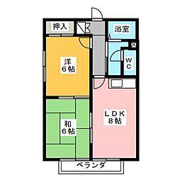 シャルムA1[2階]の間取り