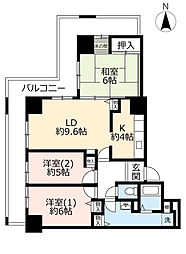 URベルマージュ堺弐番館 20階3LDKの間取り