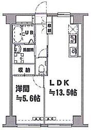 東京都板橋区蓮根3丁目の賃貸マンションの間取り