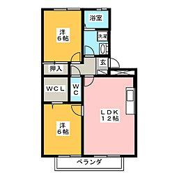 レジデンスKise[2階]の間取り