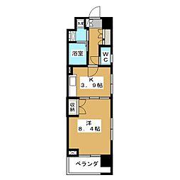 ベラジオ五条堀川[3階]の間取り