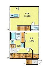 JR山手線 恵比寿駅 徒歩6分の賃貸マンション 1階1LDKの間取り