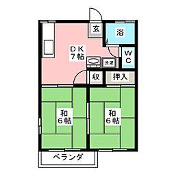 フォーブル21[2階]の間取り