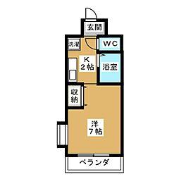 オアーゼミブ[4階]の間取り