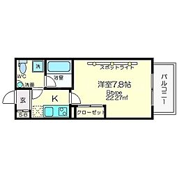 セレニテ新大阪[6階]の間取り