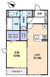 コミチノカーサ[1階]の間取り