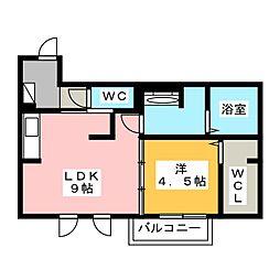 サンライフ B棟[1階]の間取り