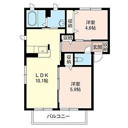 Casa Soleado H[2階]の間取り