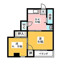 コスモスビル[2階]の間取り