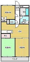 サンハイツ石田[103号室]の間取り