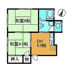丸塚荘[2階]の間取り