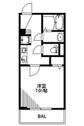 埼玉県さいたま市中央区上落合6丁目の賃貸マンションの間取り