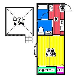 ステラコート笹原III[2階]の間取り