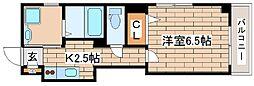 神戸市海岸線 ハーバーランド駅 徒歩9分の賃貸マンション 3階1Kの間取り