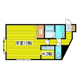 北海道札幌市東区北十四条東3丁目の賃貸アパートの間取り