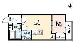 愛知県名古屋市熱田区幡野町の賃貸アパートの間取り