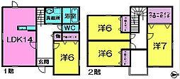 [一戸建] 奈良県奈良市あやめ池南7丁目 の賃貸【奈良県 / 奈良市】の間取り
