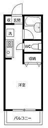 ジュネスAOKI1[2階]の間取り