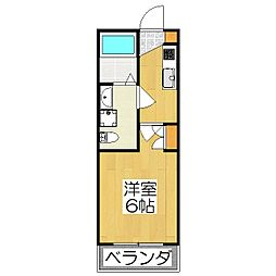 THE GARNET SUITE RESIDENCE深草 1階1Kの間取り