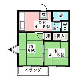 プチロワイヤル桜台[2階]の間取り