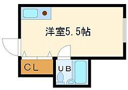 堀江グリーンハイツ[1階]の間取り