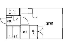 北海道札幌市東区北二十一条東1丁目の賃貸アパートの間取り