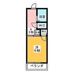 ハイツアイカ岩野[1階]の間取り