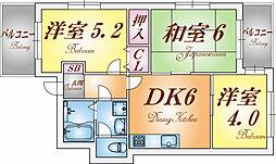 兵庫県神戸市兵庫区西橘通1丁目の賃貸マンションの間取り